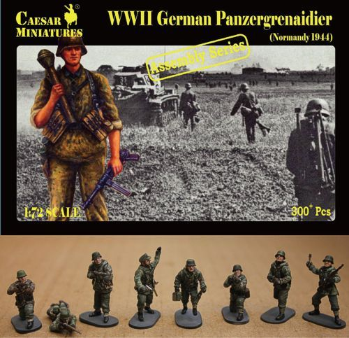Caesar Miniatures 1/72 WWII German Panzergrenadiers Normandy # 7