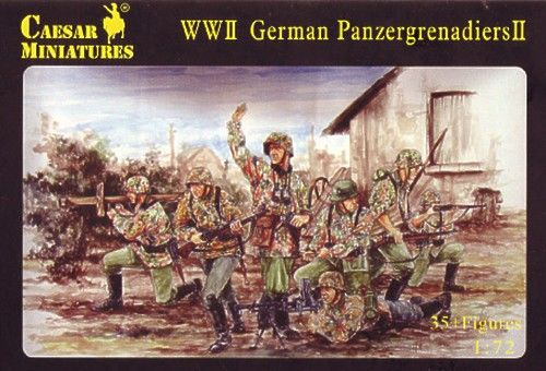 Caesar Miniatures 1/72 WWII German Panzergrenadiers set II # 053