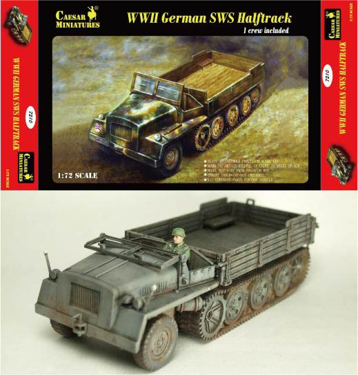 Caesar Miniatures 1/72 WWII German SWS Halftrack # 7210