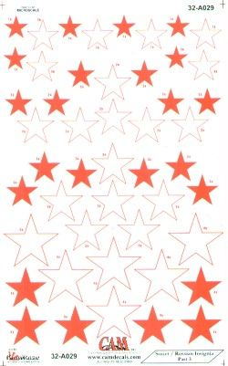 CAM 1/32 Soviet Red Stars National Insignia # 32A29