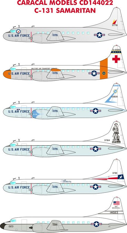 Caracal Decals 1/144 Convair C-131B Samaritan # 144022