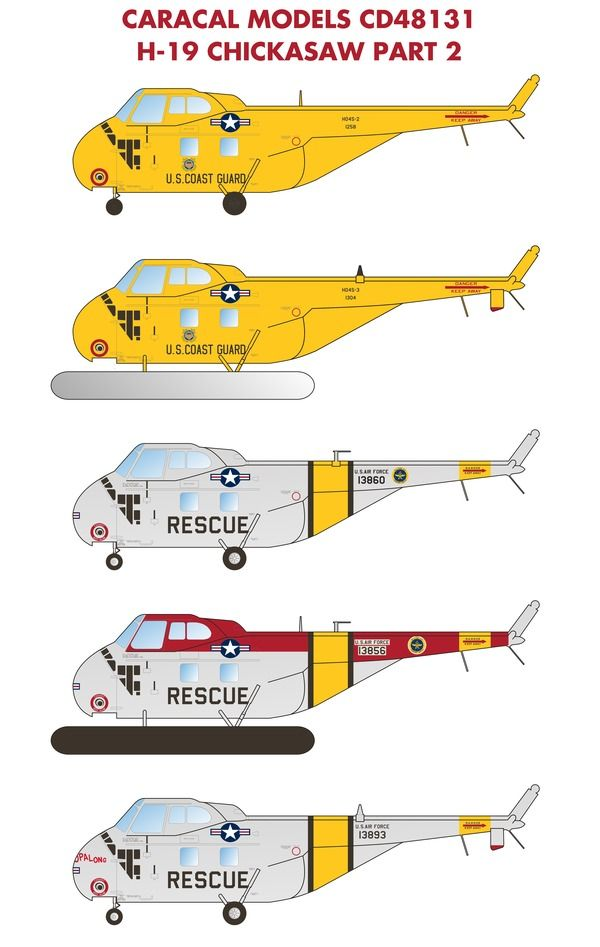 Caracal Decals 1/48 H-19 / HO4S Chickasaw Part 2 # 48131