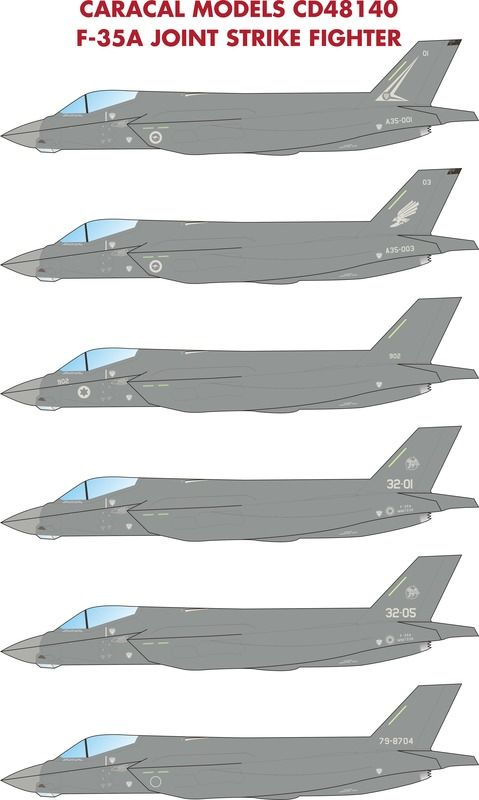 Caracal Decals 1/48 Lockheed-Martin F-35A Joint Strike Fighter # 48140