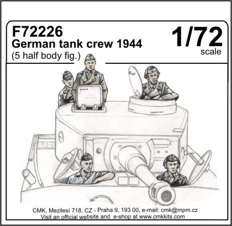 CMK 1/72 German Tank Crew 1944 # F72226