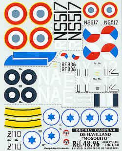 Colorado Decals 1/48 de Havilland Mosquito Mk.VI Pt 2 # 48096
