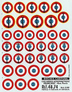 Colorado Decals 1/48 France, Roundels, Navy # 48074