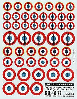 Colorado Decals 1/48 France, Roundels, Navy # 48075