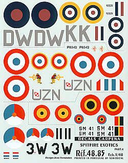 Colorado Decals 1/48 International Supermarine Spitfire Pt 4 # 4