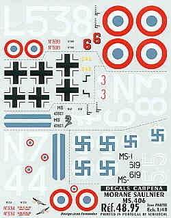 Colorado Decals 1/48 MS 406 # 48095