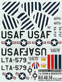 Colorado Decals 1/48 North American T-6 Texan # 48058