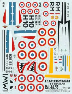 Colorado Decals 1/48 North American T-6 Texan France Pt 1 # 4805