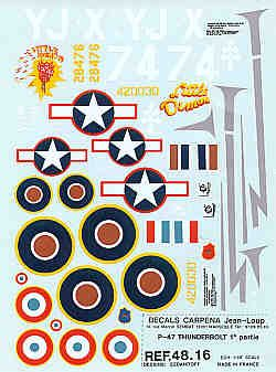 Colorado Decals 1/48 Republic P-47D Thunderbolt # 48016