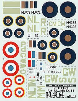 Colorado Decals 1/48 Supermarine Spitfire flown by French pilots