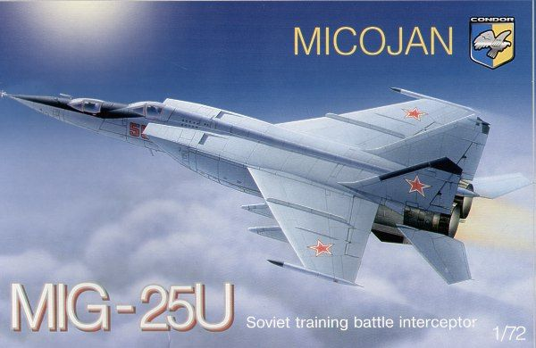 Condor 1/72 Mikoyan MiG-25U Soviet Training Battle Interceptor # 72014