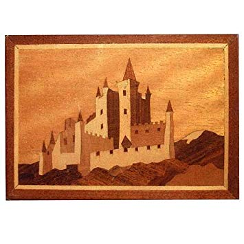 "Craft Supplies Bavarian Castle 7"" x 5"" Marquetry Kit # 204"