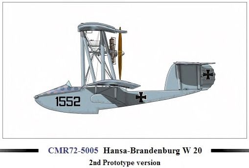 Czech Master Resin 1/72 Hansa-Brandenburg W20 2nd Prototype Version # 72-5005