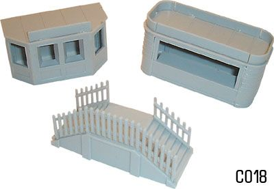 Dapol 1/76 Kiosk and Steps # C18