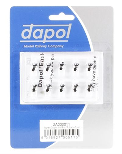 Dapol - N Gauge Easi-fit Magnetic Couplings Short Arm Multi-Pack (5 Pairs) # 2A-000-011