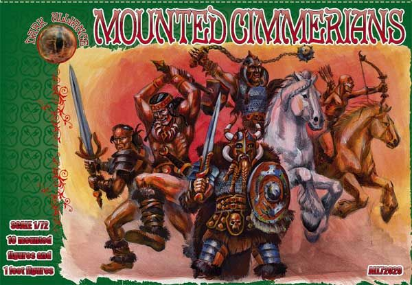 Dark Alliance 1/72 Mounted Cimmerians # PAL72029