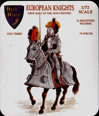 Dark Dream Studio 1/72 European Knights on Horseback # DDS72005