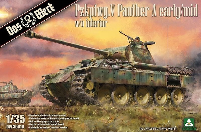 Das Werk 1/35 Pz.Kpfw.V Ausf.A (Early/Mid) Panther without Interior # DW35010