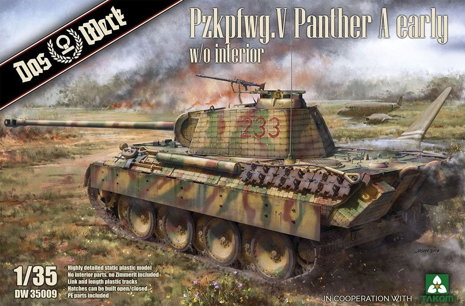 Das Werk 1/35 Pz.Kpfw.V Ausf.A (Early) Panther without Interior # DW35009