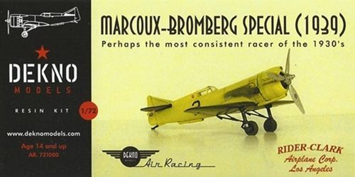 Dekno 1/72 Marcoux-Bromberg Special (1939) # AR721000