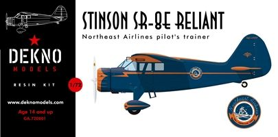 Dekno 1/72 Stinson SR-8E Reliant 'Northeast Airlines Pilot Trainer' # GA720801