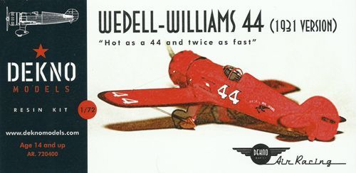 Dekno 1/72 Wedell-Williams 44 # AR720400