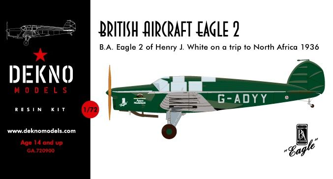 "Dekno Models 1/72 G-ADYY of Henry J. ""Trip to North Africa 1936"" # GA.720900"