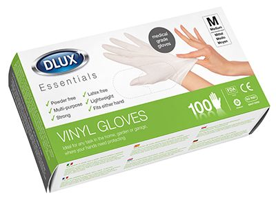 Dlux - 100 Vinyl Disposable Gloves Size Extra Large # 74263