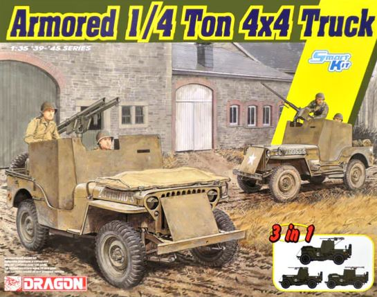 Dragon 1/35 Armored 1/4 Ton 4x4 Truck (3 in 1) Smart Kit # 6727