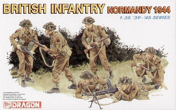 Dragon 1/35 British (WWII) Infantry Normandy 1944 # 6212