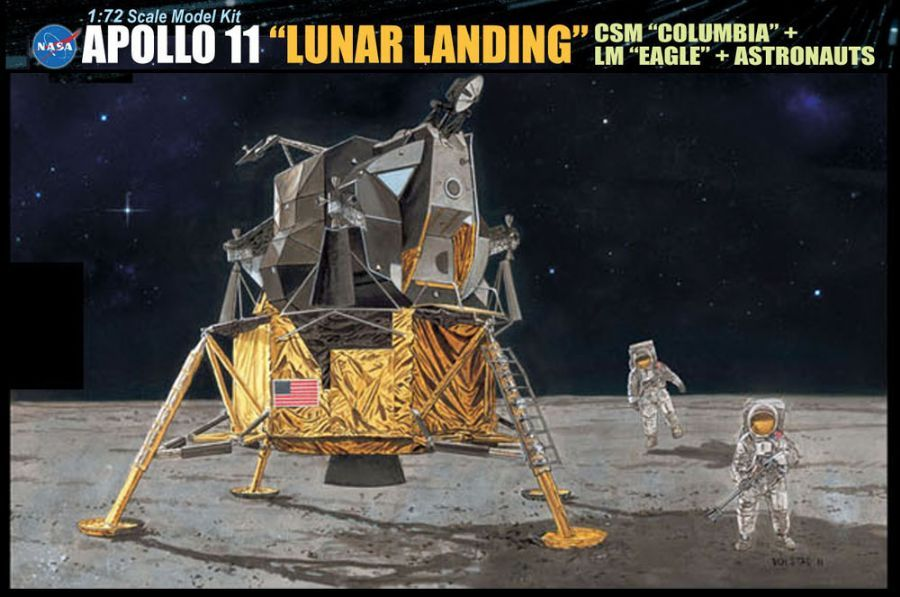 "Dragon 1/72 Apollo 11 ""Lunar Landing"" CSM ""Columbia"" LM ""Eagle"" # 11002"