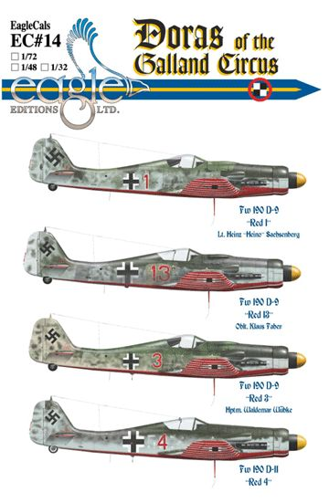 Eagle Cal 1/48 Focke Wulf Fw 190D-9 and Focke Wulf Fw 190D-11 Do