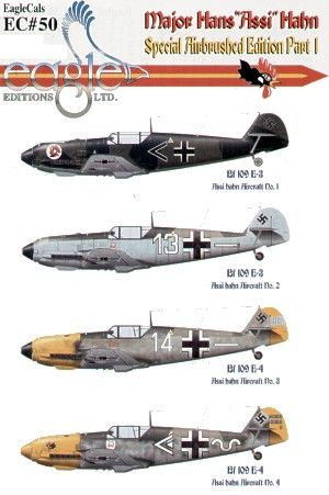 Eagle Cal 1/48 Major Hans 'Assi' Hahn Part 1 Messerschmitt Bf 10