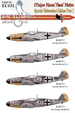 Eagle Cal 1/48 Major Hans 'Assi' Hahn Part II Messerschmitt Bf 1