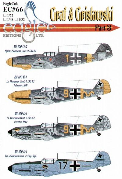 Eagle Cal 1/48 Messerschmitt Bf 109E-1/G-2 Graf and Grislawski 9