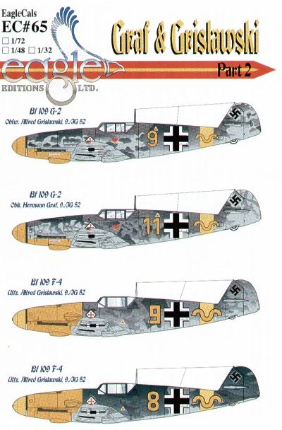 Eagle Cal 1/48 Messerschmitt Bf 109F-4/G-2 Graf and Grislawski 9