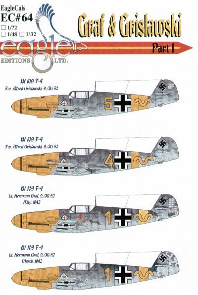 Eagle Cal 1/48 Messerschmitt Bf 109F-4 Graf and Grislawski 9/JG5