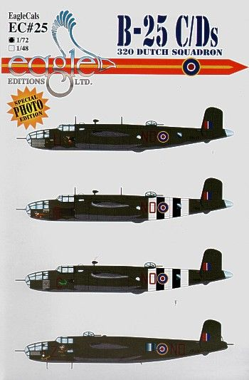 Eagle Cal 1/48 North American B-25C/J # 48025