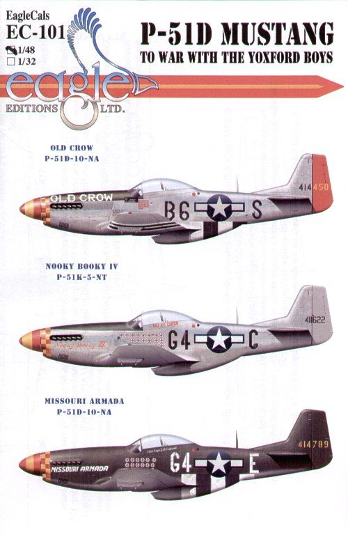Eagle Cal 1/48 North American P-51D Mustang 357th FG Pt 1 # 48101