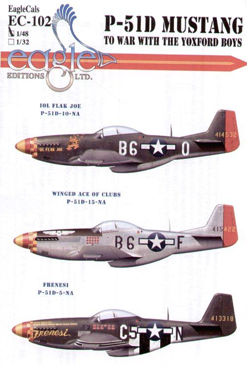 Eagle Cal 1/48 North American P-51D Mustang 357th FG Pt 2 # 48102