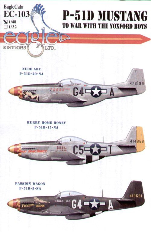 Eagle Cal 1/48 North American P-51D Mustang 357th FG Pt 3 # 4810