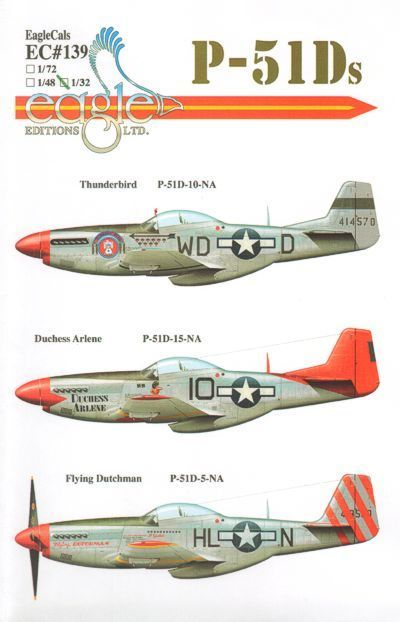 Eagle Cal 1/48 P-51D Mustang Part 1 # 48139