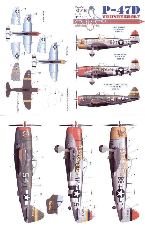 Eagle Cal 1/48 Republic P-47D Thunderbolt Pt 1 # 48104