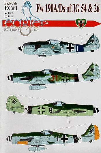 Eagle Cal 1/72 Focke Wulf Fw 190A/D of JG54 and 26 # 72001
