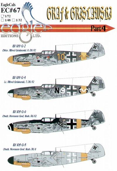 Eagle Cal 1/72 Messerschmitt Bf 109G Graf and Grislawski 9/JG52