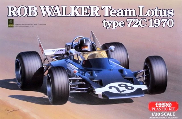 Ebbro 1/20 Rob Walker Team Lotus type 72C 1970 # 002