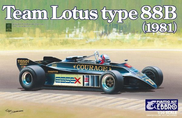 Ebbro 1/20 Team Lotus Type 88B (1981) # 010